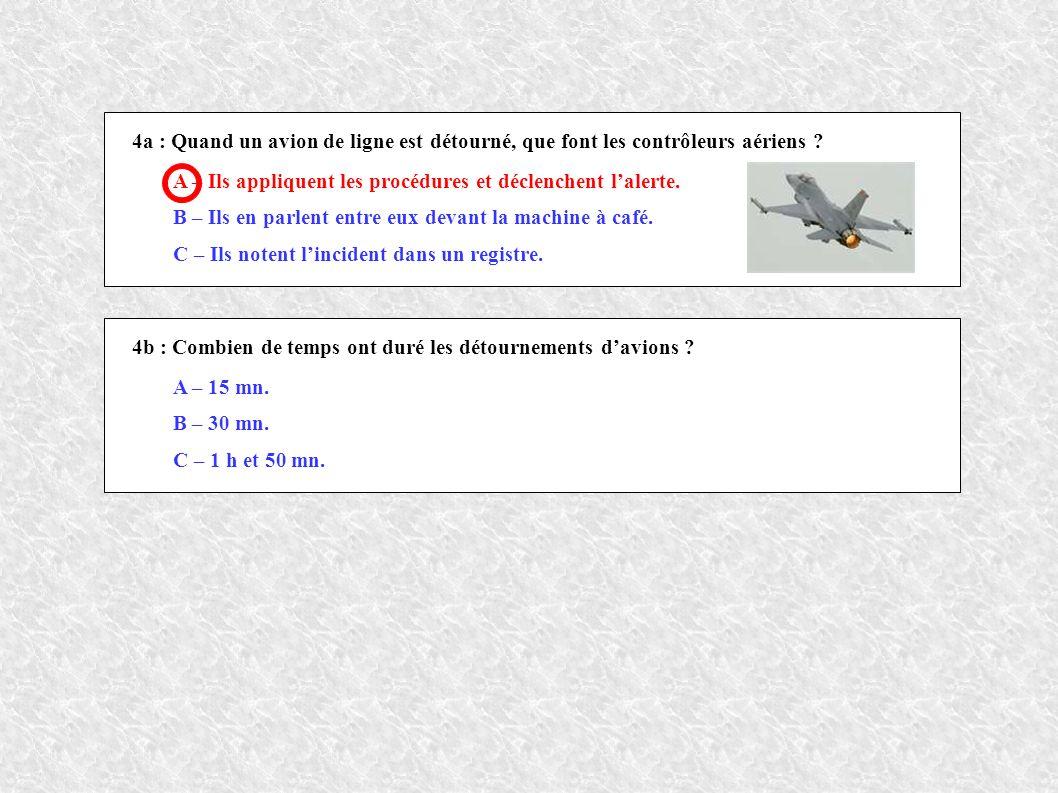 4a : Quand un avion de ligne est détourné, que font les contrôleurs aériens .