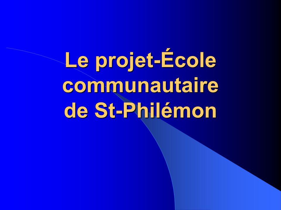 Le projet-École communautaire de St-Philémon