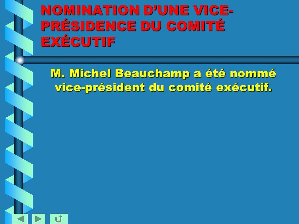 COMITÉ EXÉCUTIF Séance du 15 mars 2005