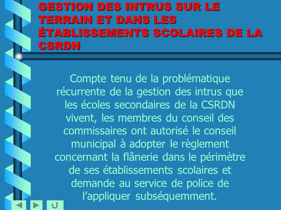 CONSEIL DES COMMISSAIRES Séance du 15 mars 2005