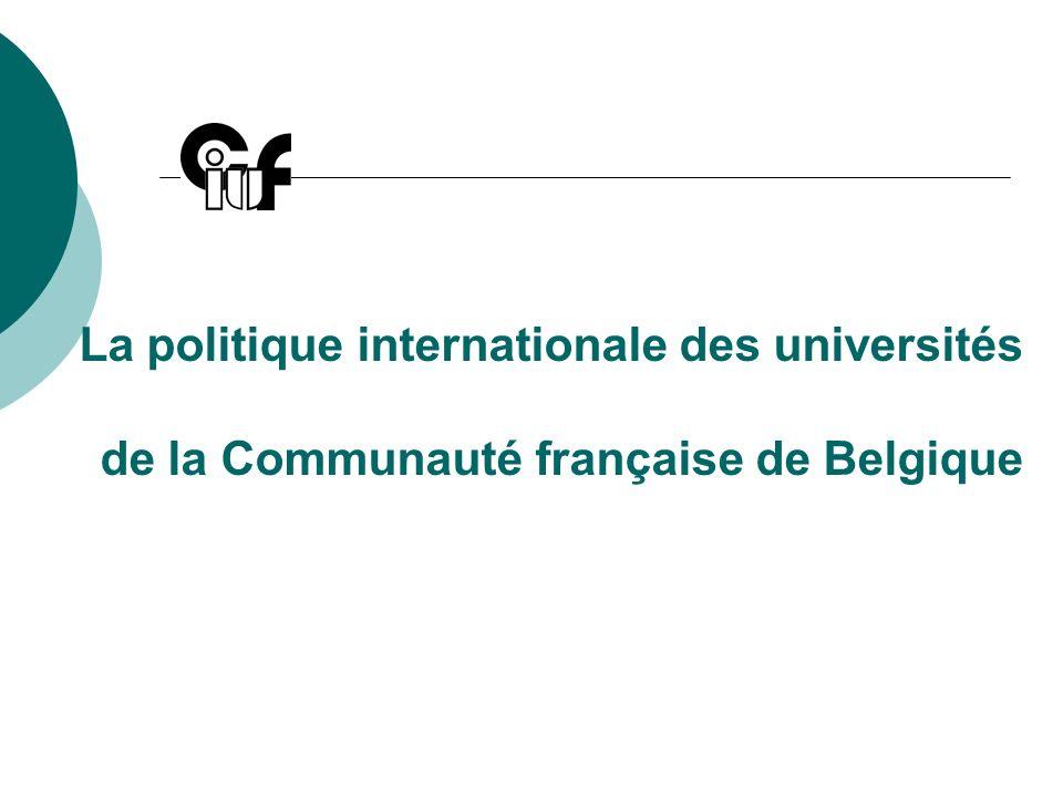 La politique internationale des universités de la Communauté française de Belgique