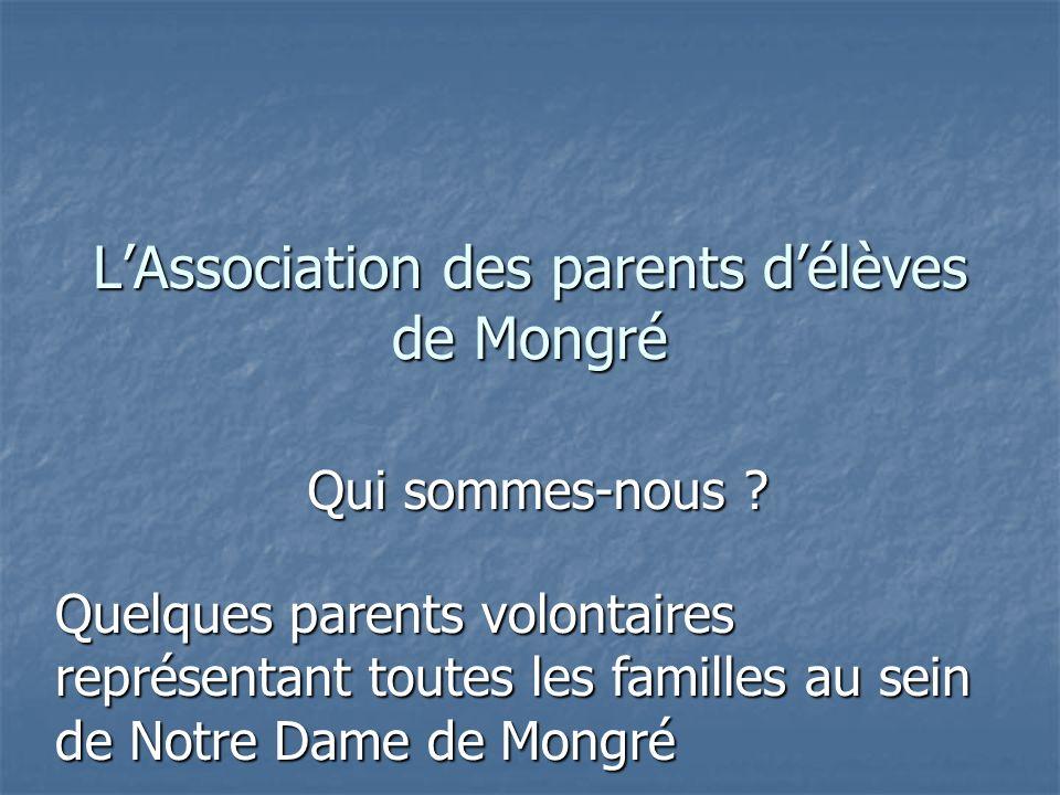 LAssociation des parents délèves de Mongré Qui sommes-nous .
