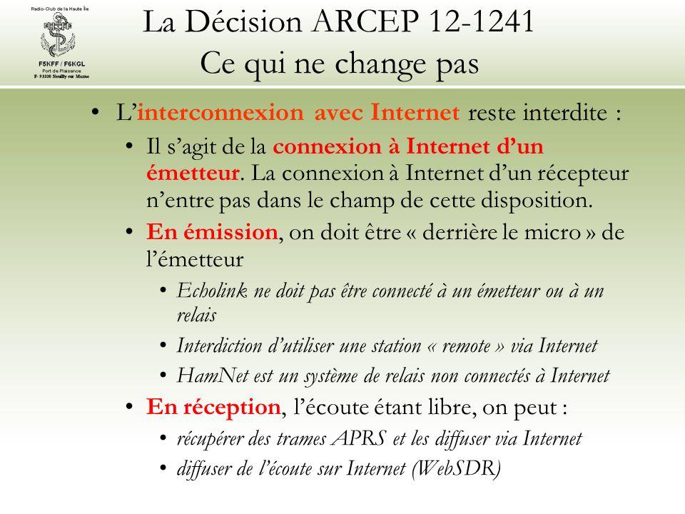 Linterconnexion avec Internet reste interdite : Il sagit de la connexion à Internet dun émetteur.