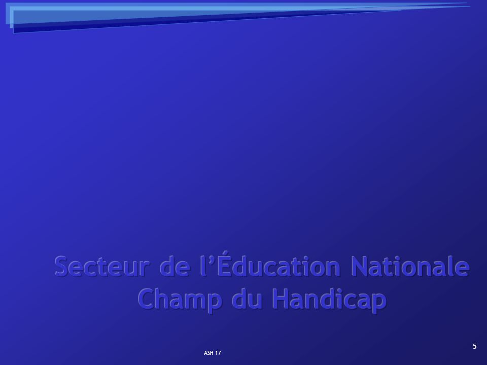 6 Scolarisation collective des élèves handicapés.