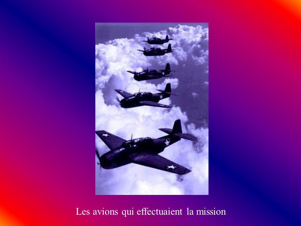 Les avions qui effectuaient la mission