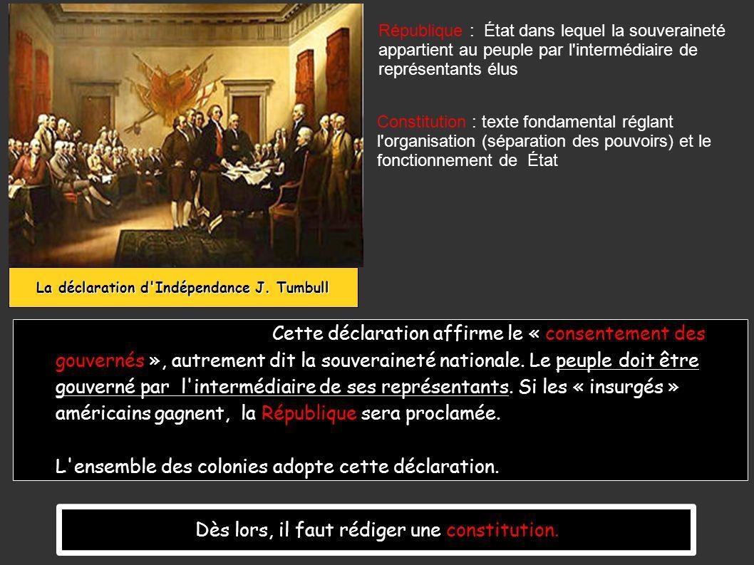 Cette déclaration affirme le « consentement des gouvernés », autrement dit la souveraineté nationale.