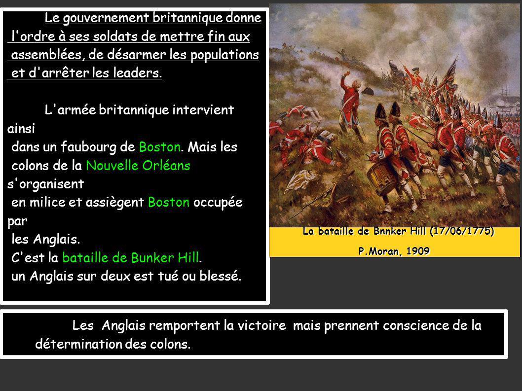 Le gouvernement britannique donne l ordre à ses soldats de mettre fin aux assemblées, de désarmer les populations et d arrêter les leaders.