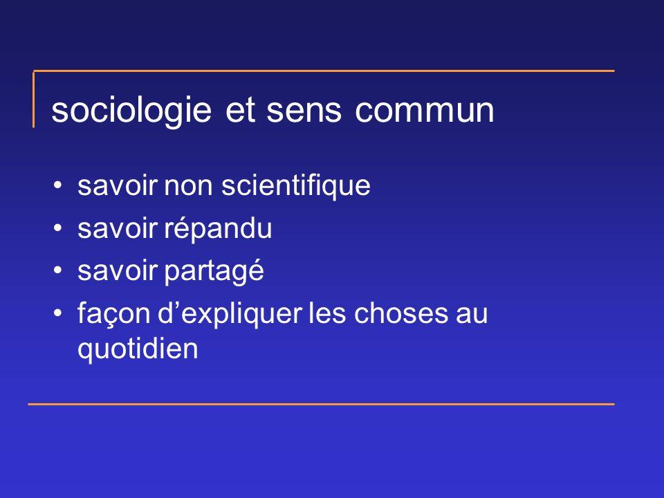 sociologie et sens commun savoir non scientifique savoir répandu savoir partagé façon dexpliquer les choses au quotidien