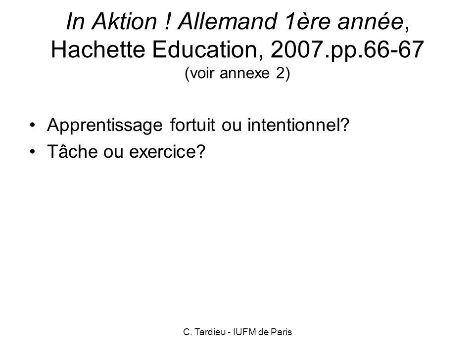 C.Tardieu - IUFM de Paris In Aktion .