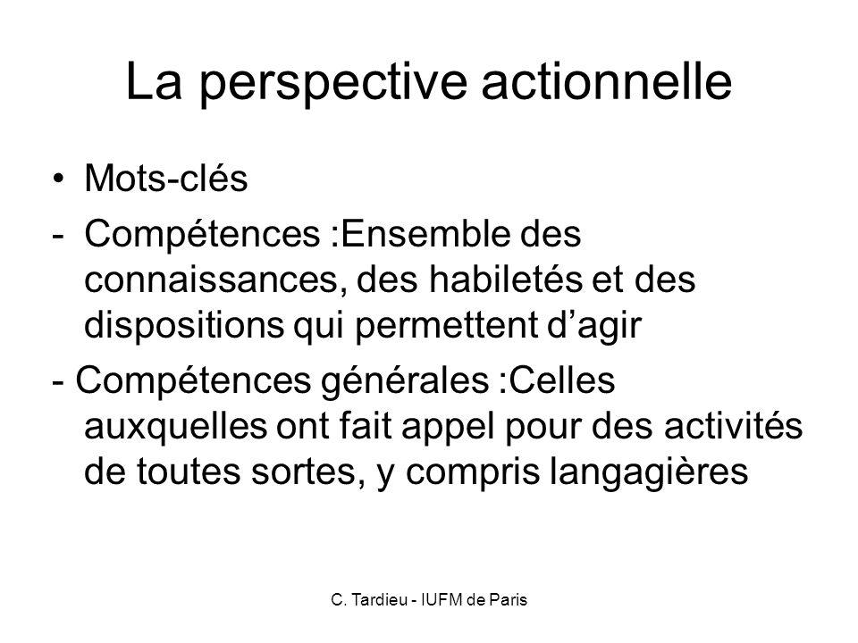 C.Tardieu - IUFM de Paris Tâche ou exercice. Apprentissage focalisé ou non focalisé.