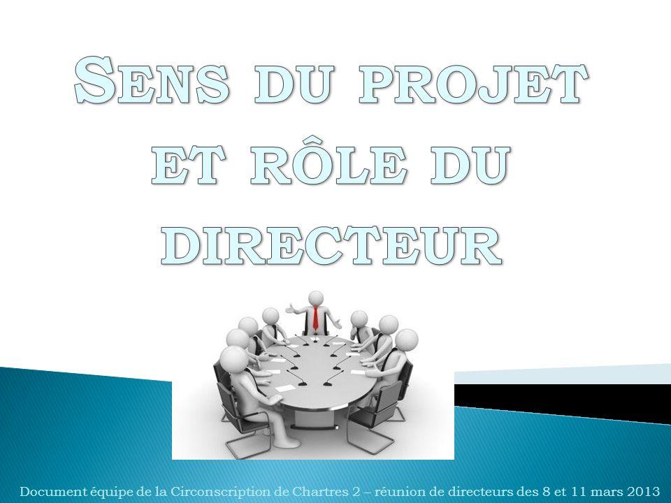 Document équipe de la Circonscription de Chartres 2 – réunion de directeurs des 8 et 11 mars 2013