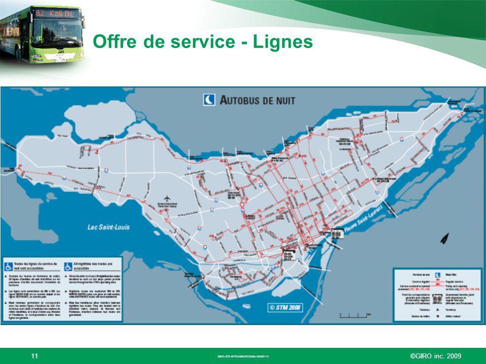 ©GIRO inc. 200911 Offre de service - Lignes GIRO-STD-INTROGIROF(2009)-20090112