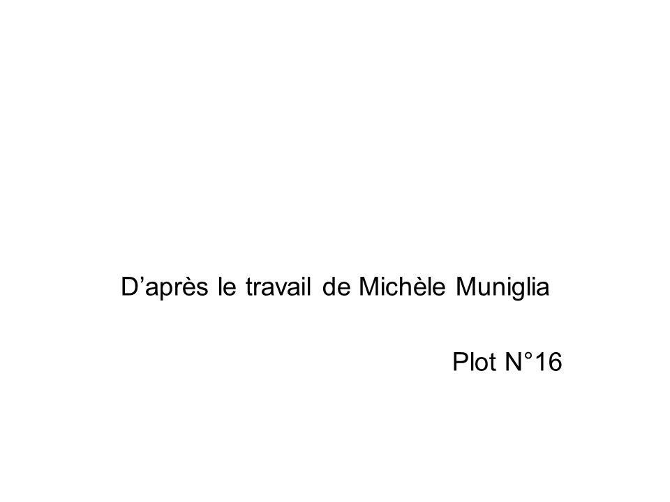 Daprès le travail de Michèle Muniglia Plot N°16