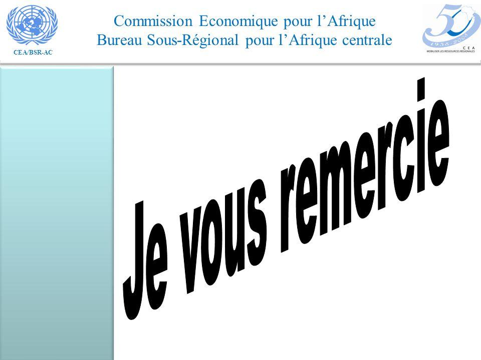 CEA/BSR-AC Commission Economique pour lAfrique Bureau Sous-Régional pour lAfrique centrale