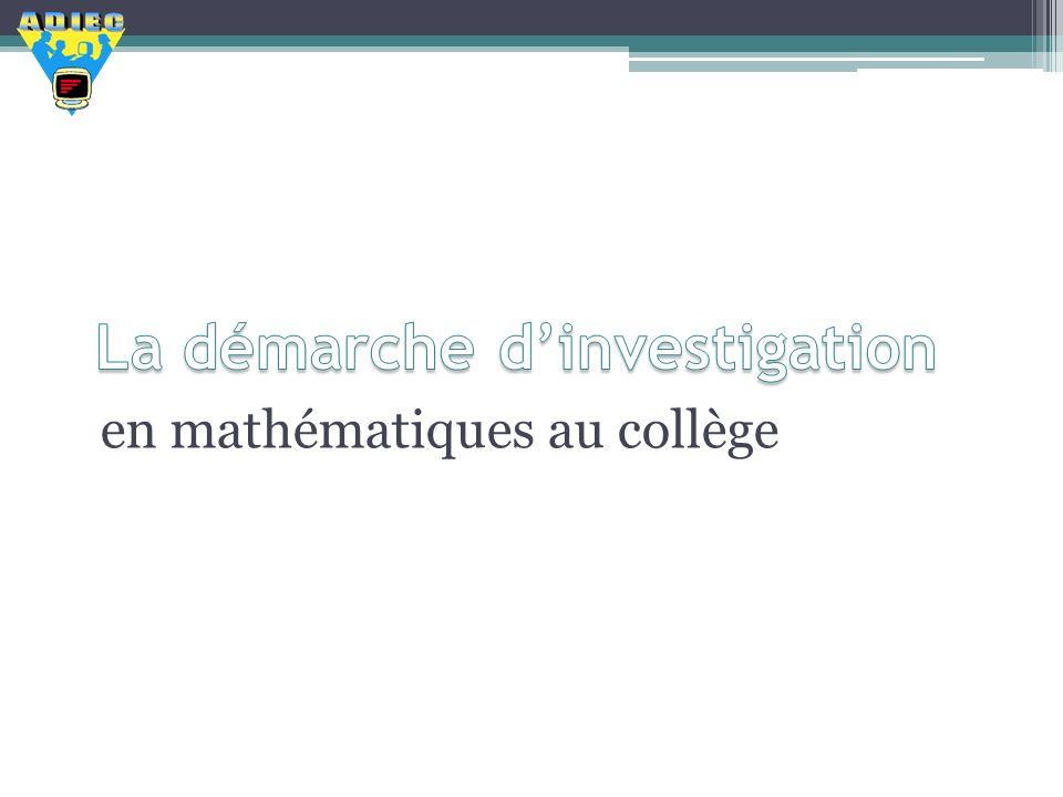 en mathématiques au collège