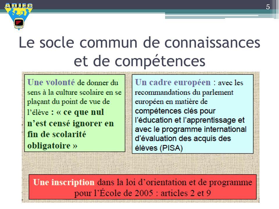 Le socle commun de connaissances et de compétences 5