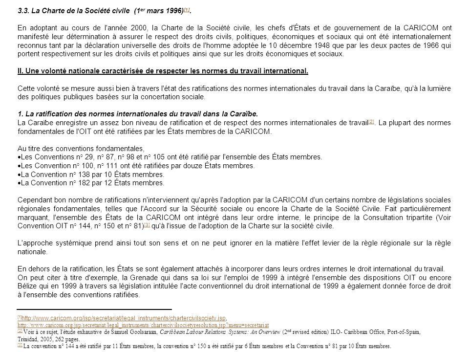 3.3. La Charte de la Société civile (1 er mars 1996) [1]. [1] En adoptant au cours de l'année 2000, la Charte de la Société civile, les chefs d'États