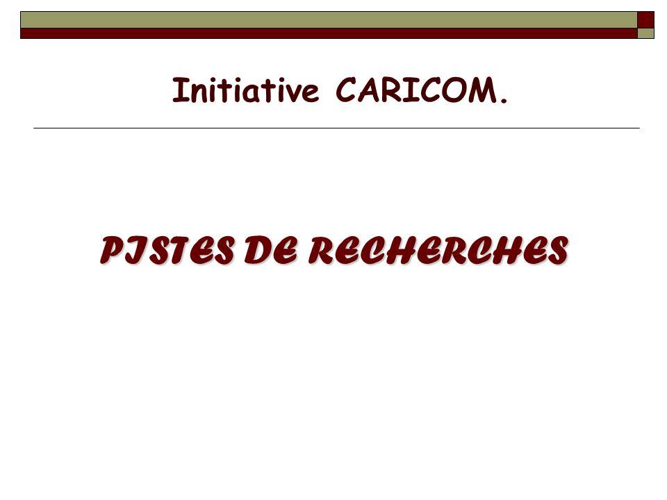 PISTES DE RECHERCHES Initiative CARICOM.