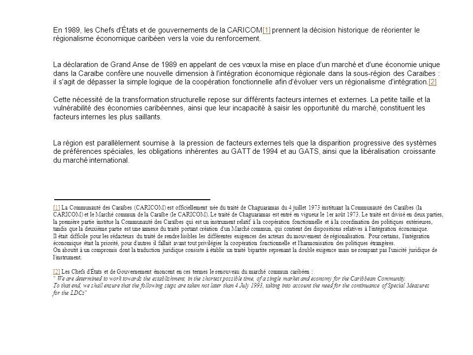 Initiative CARICOM. ANALYSE DES ENJEUX