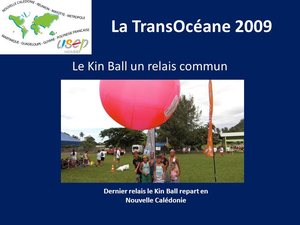 La TransOcéane 2009 Dernier relais le Kin Ball repart en Nouvelle Calédonie Le Kin Ball un relais commun