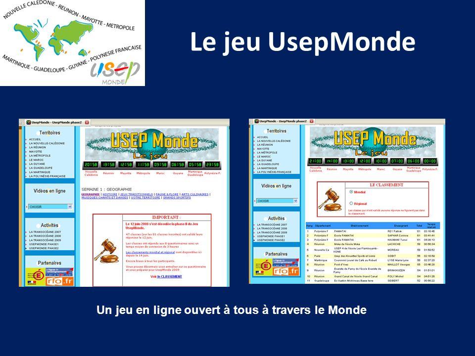 Le jeu UsepMonde Un jeu en ligne ouvert à tous à travers le Monde