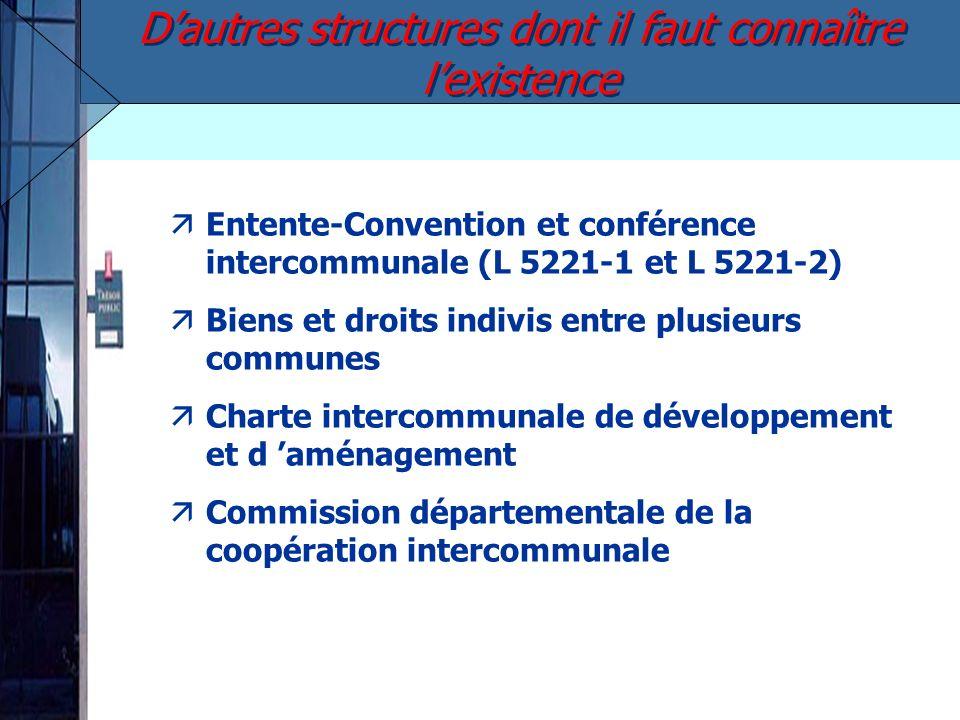 äEntente-Convention et conférence intercommunale (L 5221-1 et L 5221-2) äBiens et droits indivis entre plusieurs communes äCharte intercommunale de dé