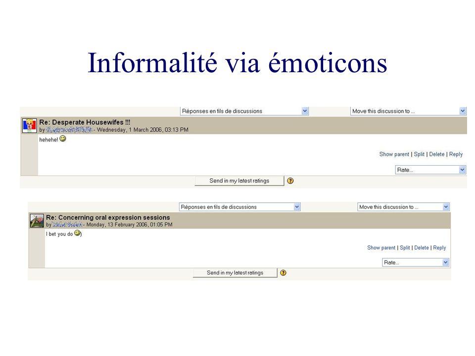 Informalité via émoticons