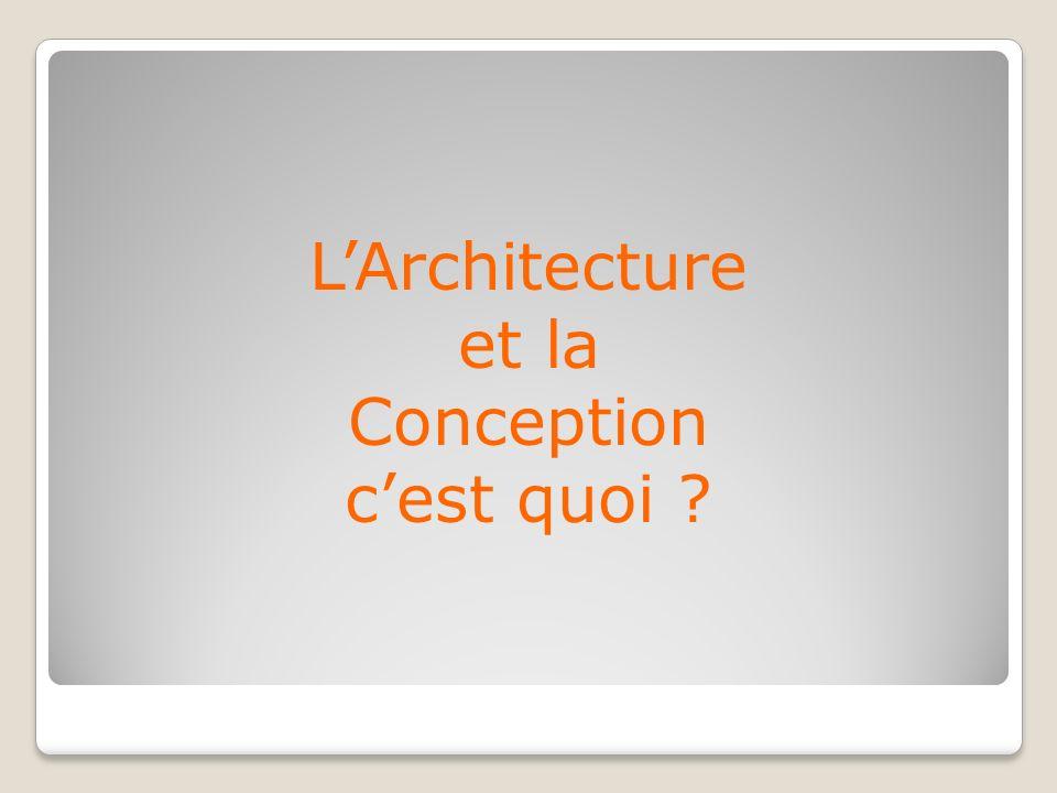 LArchitecture et la Conception cest quoi ?