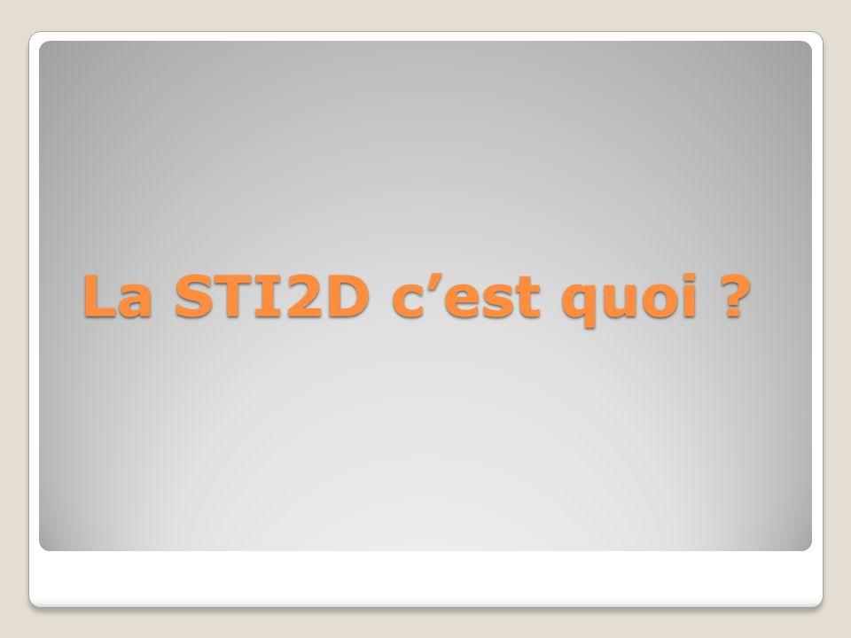 La STI2D cest quoi ?