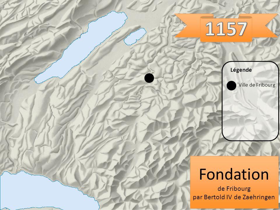 Fondation de Fribourg par Bertold IV de Zaehringen Fondation de Fribourg par Bertold IV de Zaehringen Ville de Fribourg Légende