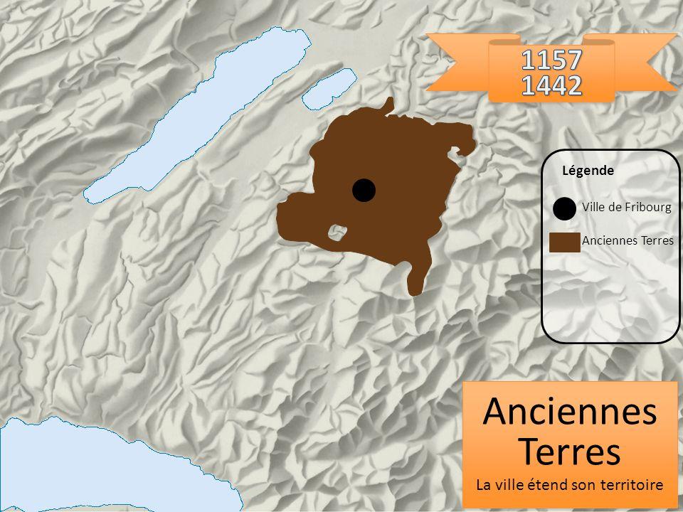 Anciennes Terres La ville étend son territoire Anciennes Terres La ville étend son territoire Ville de Fribourg Légende Anciennes Terres