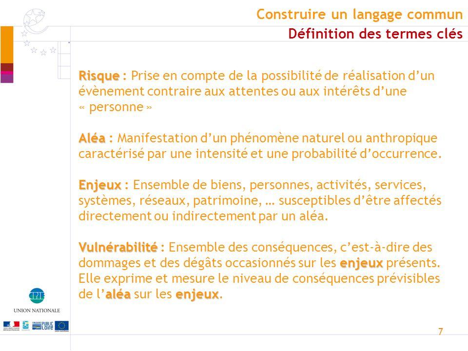 7 Risque Risque : Prise en compte de la possibilité de réalisation dun évènement contraire aux attentes ou aux intérêts dune « personne » Aléa Aléa :