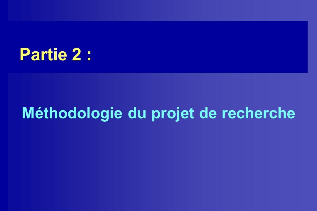 Partie 2 : Méthodologie du projet de recherche