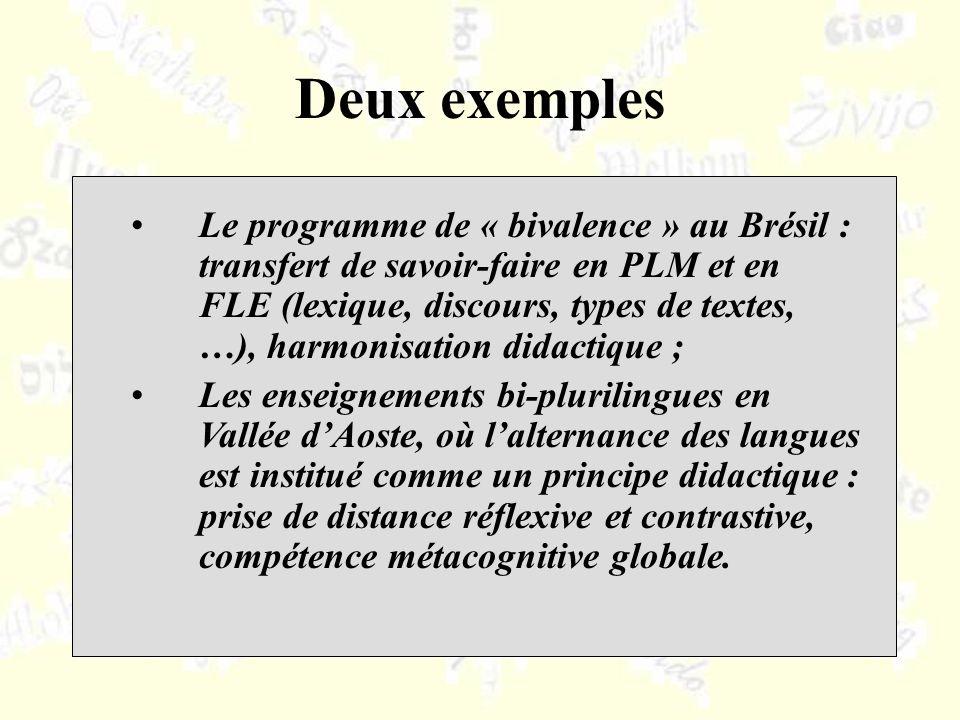 Le programme de « bivalence » au Brésil : transfert de savoir-faire en PLM et en FLE (lexique, discours, types de textes, …), harmonisation didactique