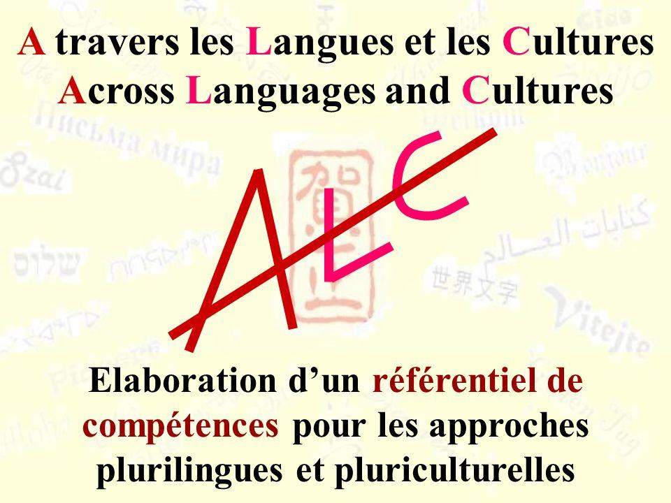 A travers les Langues et les Cultures Across Languages and Cultures Elaboration dun référentiel de compétences pour les approches plurilingues et plur