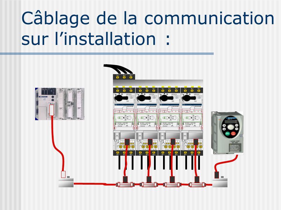 Câblage de la communication sur linstallation :