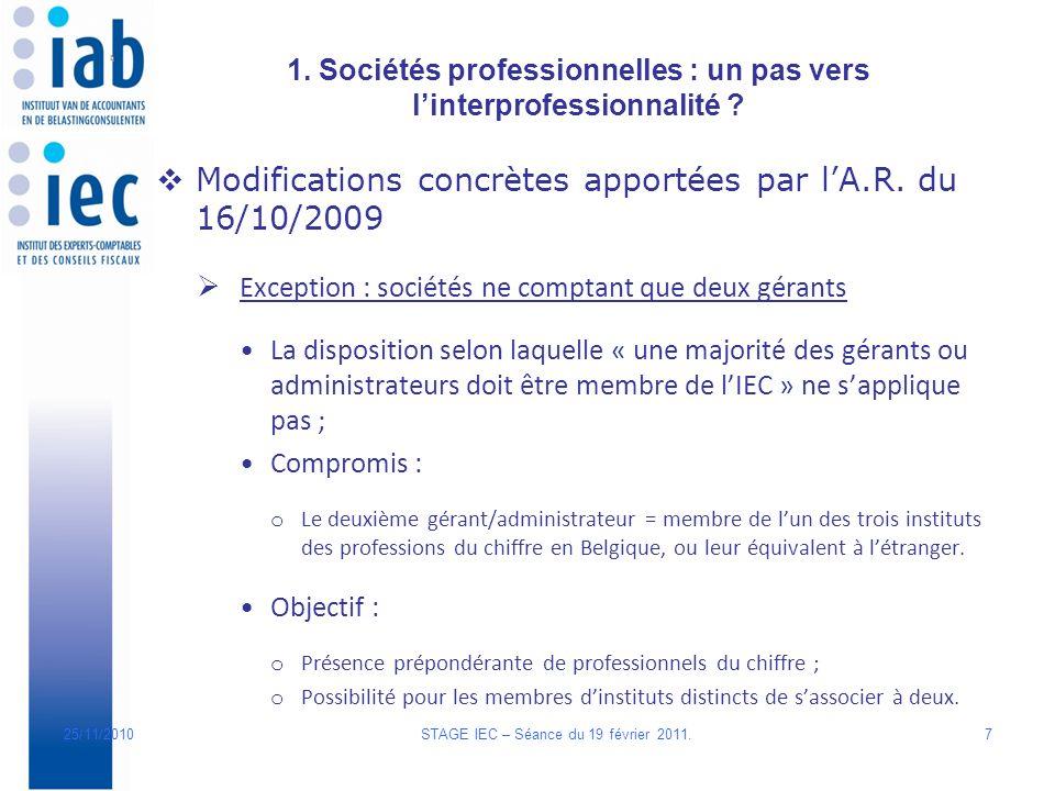 1. Sociétés professionnelles : un pas vers linterprofessionnalité .