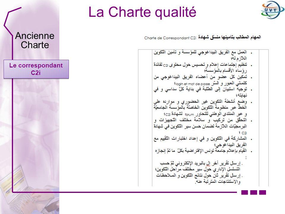 La Charte qualité Le correspondant C2i Ancienne Charte