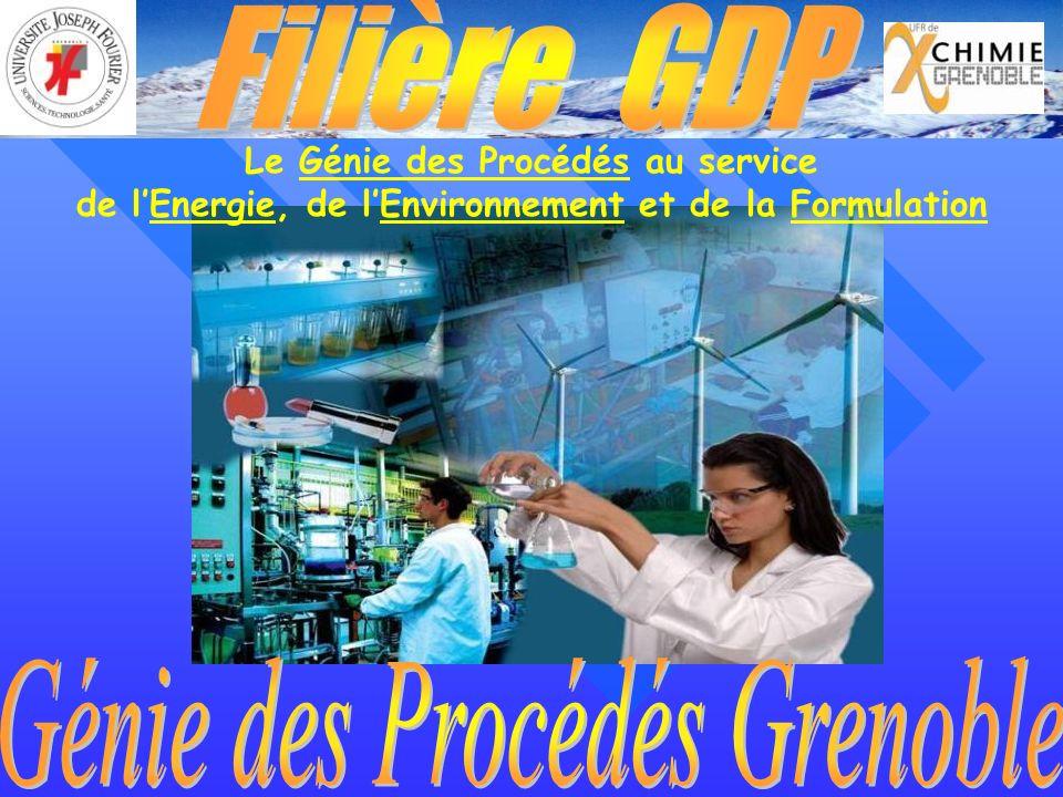 Le Génie des Procédés au service de lEnergie, de lEnvironnement et de la Formulation