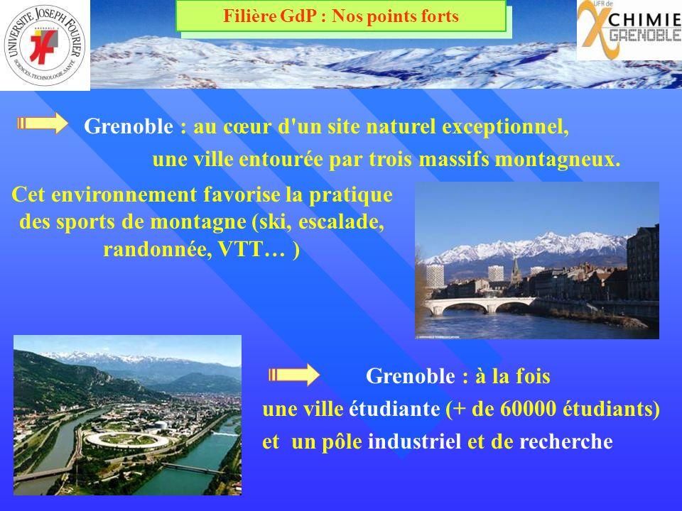 Grenoble : à la fois une ville étudiante (+ de 60000 étudiants) et un pôle industriel et de recherche Grenoble : au cœur d un site naturel exceptionnel, une ville entourée par trois massifs montagneux.
