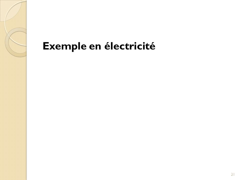 Exemple en électricité 21
