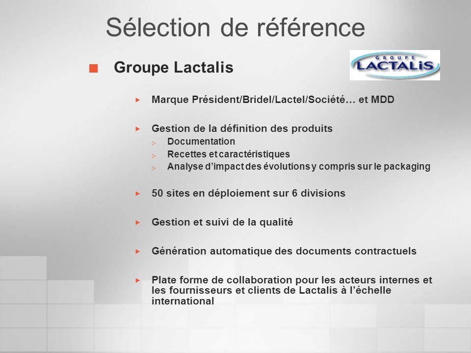 Groupe Lactalis Marque Président/Bridel/Lactel/Société… et MDD Gestion de la définition des produits Documentation Recettes et caractéristiques Analys