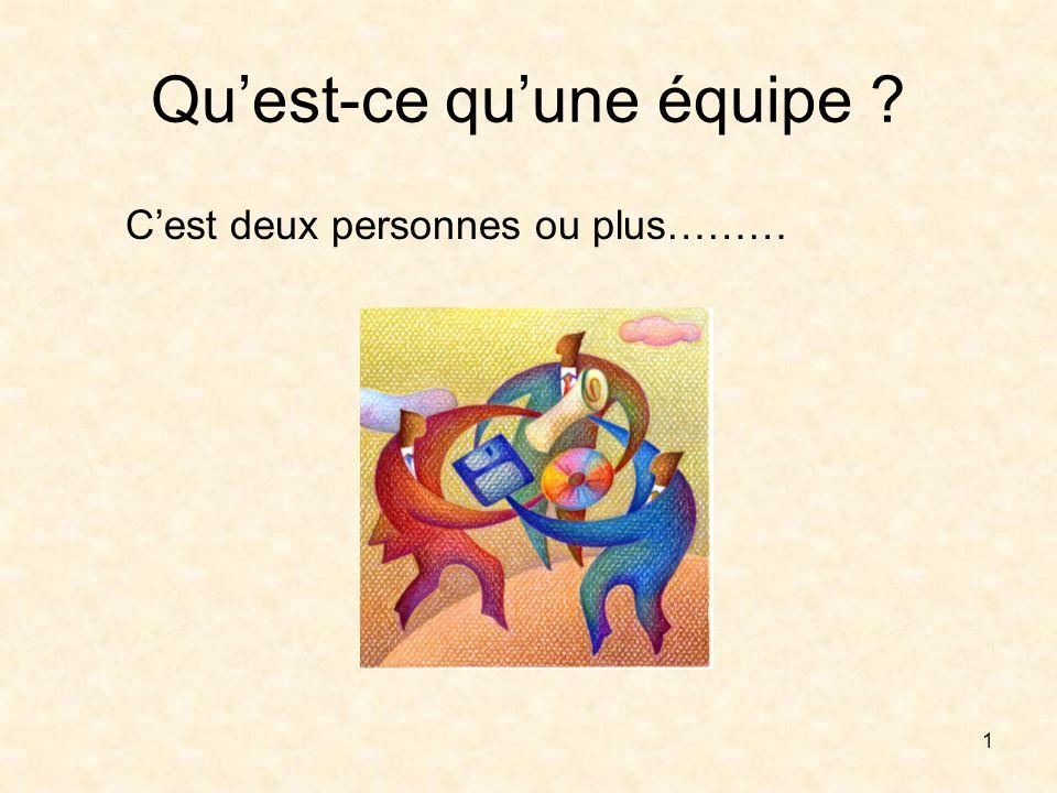 1 Quest-ce quune équipe ? Cest deux personnes ou plus………