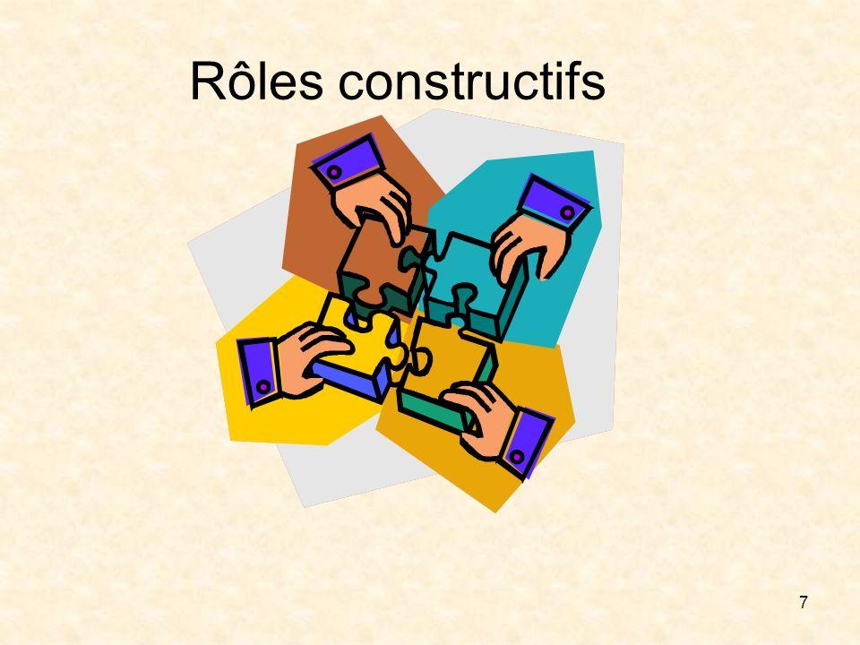 7 Rôles constructifs