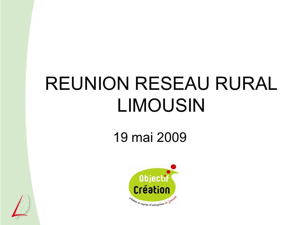 REUNION RESEAU RURAL LIMOUSIN 19 mai 2009