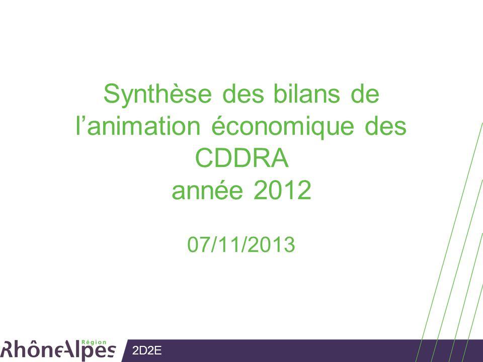 2D2E Synthèse des bilans de lanimation économique des CDDRA année 2012 07/11/2013