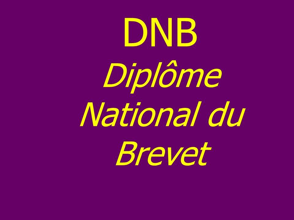 DNB Diplôme National du Brevet