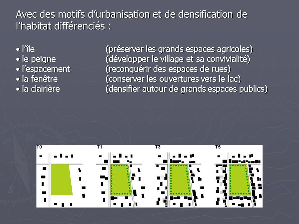 Avec des motifs durbanisation et de densification de lhabitat différenciés : lîle (préserver les grands espaces agricoles) lîle (préserver les grands
