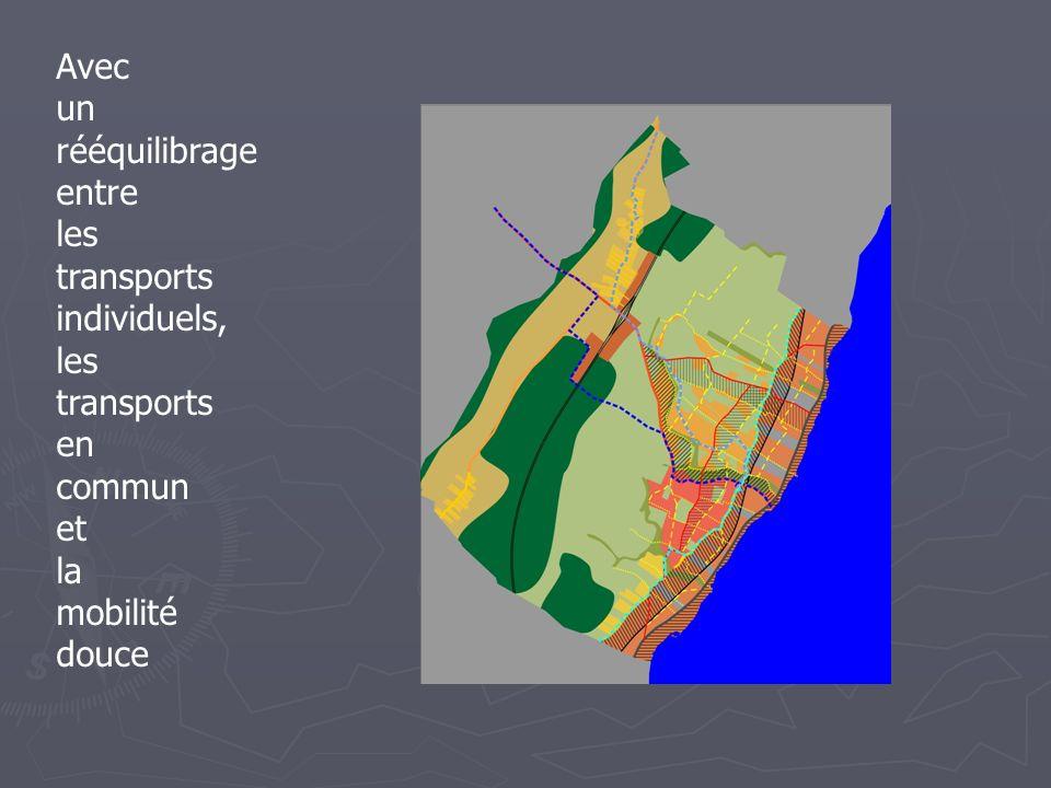 Avec un rééquilibrage entre les transports individuels, les transports en commun et la mobilité douce