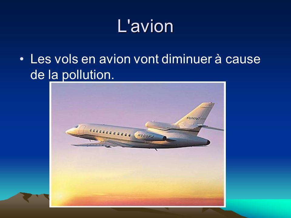 L'avion Les vols en avion vont diminuer à cause de la pollution.